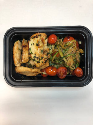 Baked Rosemary Chicken with Zoodles