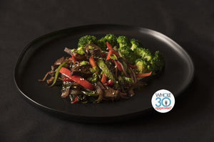 Pepper Steak with Broccoli
