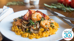 Tuscan Shrimp and Sausage Butternut Risotto