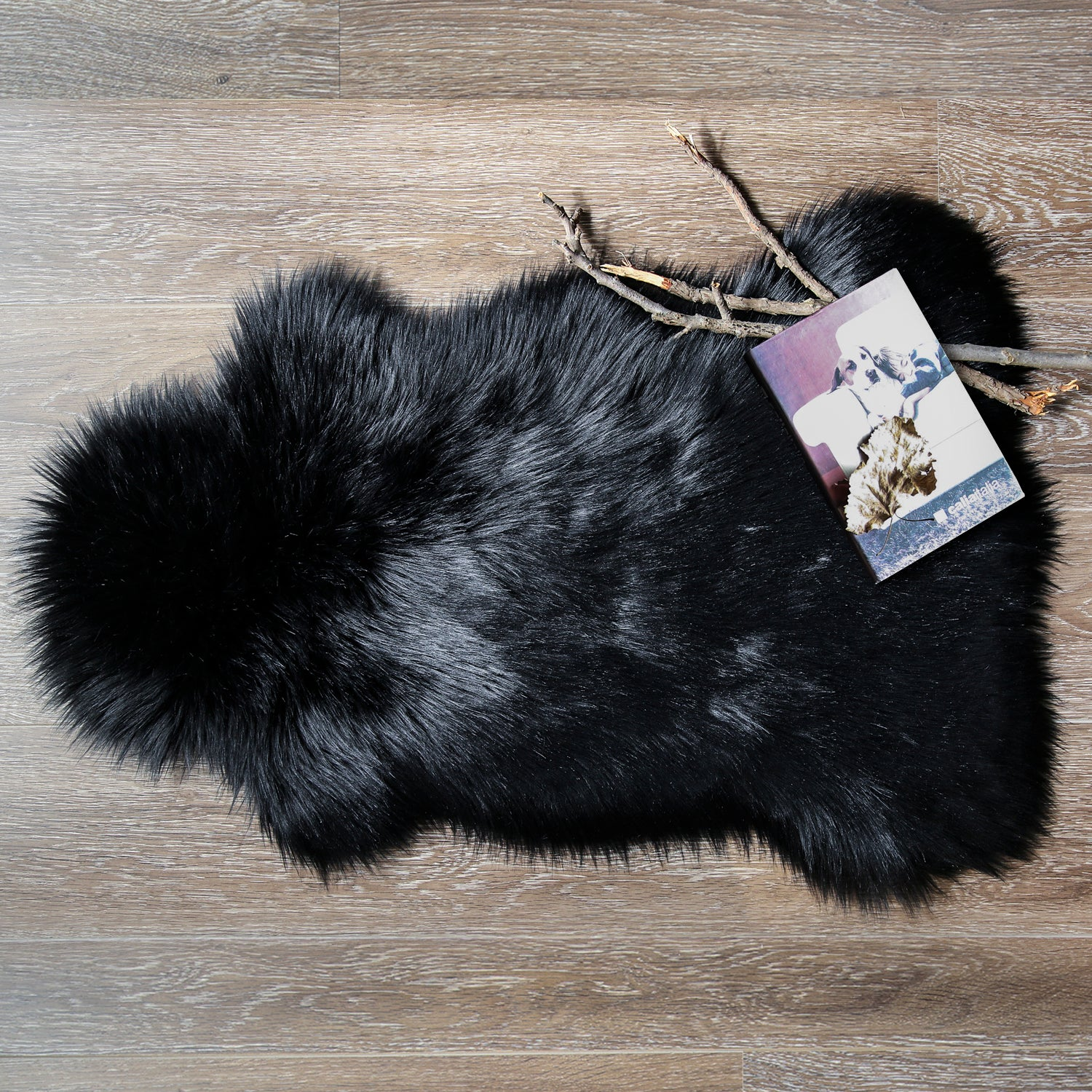 Superb Black Soft Faux Sheepskin Fur Chair Couch Cover Area Rug Caraccident5 Cool Chair Designs And Ideas Caraccident5Info