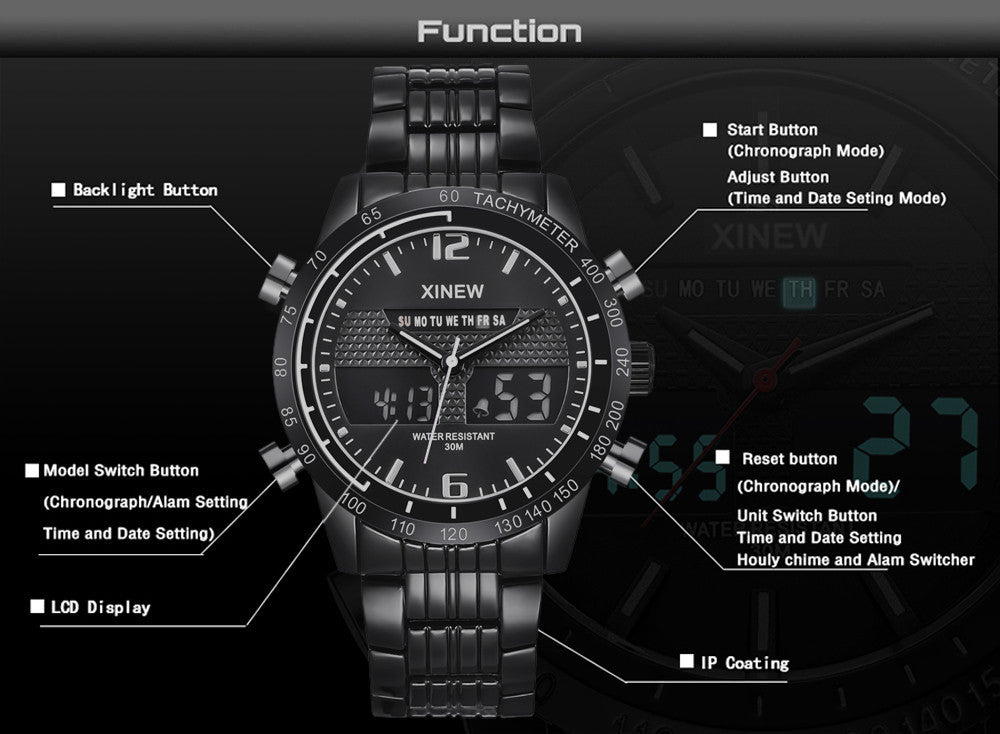Analog LED Sports Military Wrist Watch