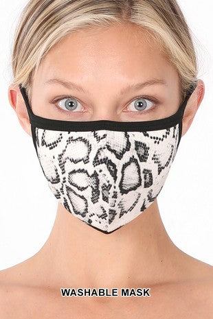 Washable Poly/Cotton Mask - Animal Print