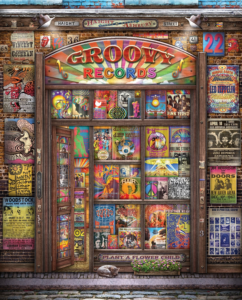 Groovy Records - 1000 piece Puzzle