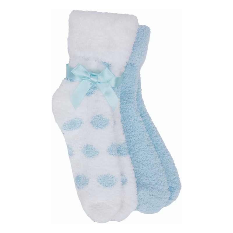 Polka Dot Shea Butter/Lavender Socks Set of 2