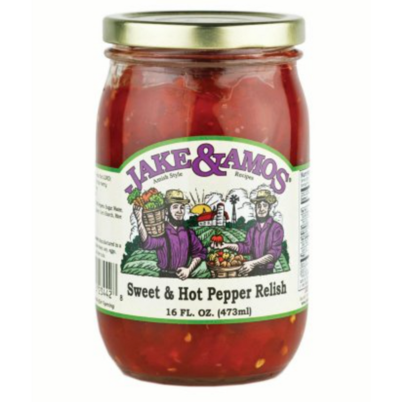 Jake & Amos Sweet & Hot Pepper Relish