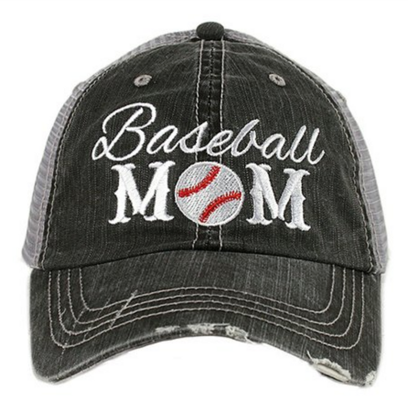 Baseball Mom - Katydid Embroidered Trucker Hat