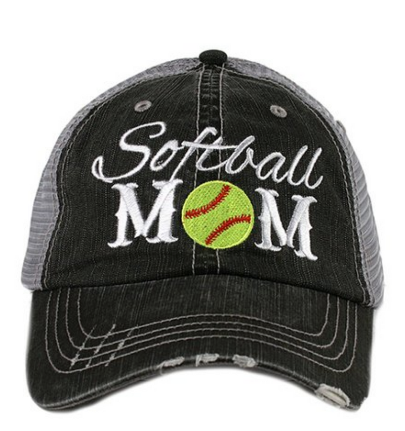 Softball Mom - Katydid Embroidered Trucker Hat