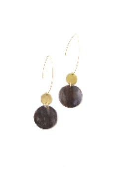 Shaw Earrings Gold & Horn