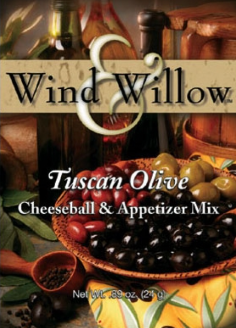 Wind & Willow Tuscan Olive Cheeseball & Appetizer Mix