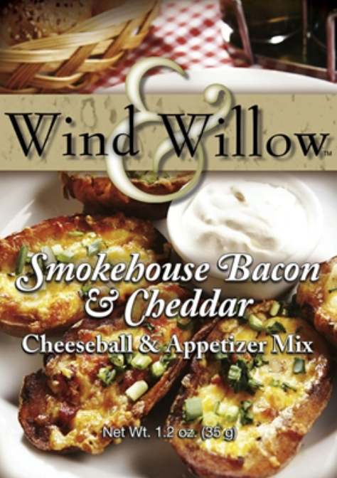 Wind & Willow Smokehouse Bacon & Cheddar Cheeseball & Appetizer Mix