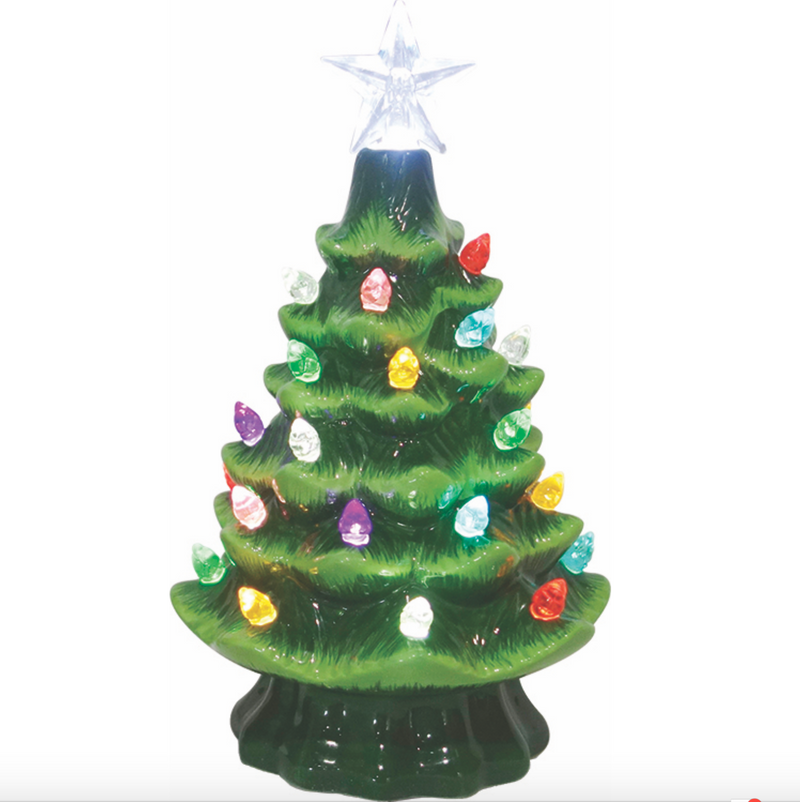 Ceramic Light Up Tree 7.5""