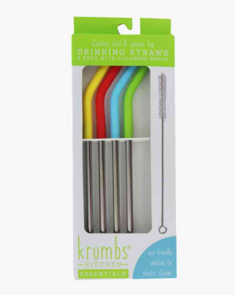 Krumb's Kitchen 4 pack Reusable Straws