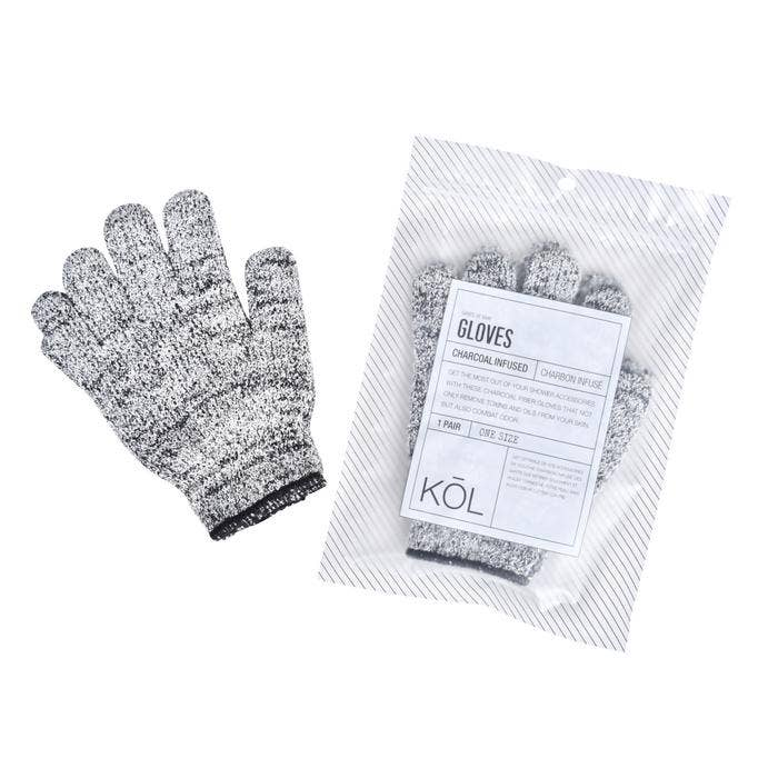 Bamboo Charcoal Bath Glove