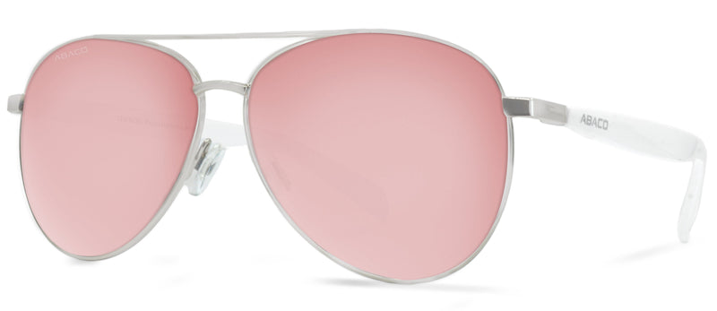 Abaco Sunglasses Aviator Burton Silver/White/Rose Gold