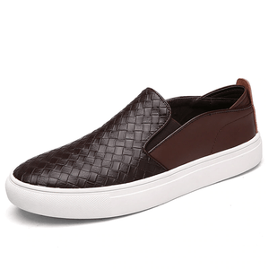 Soft Woven Moccasins Casual Shoes