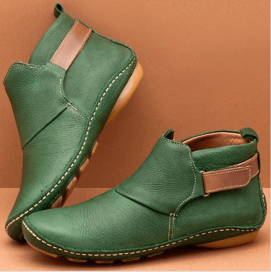 Walk Wear™ -  Women Casual Comfy Daily Adjustable Soft Leather Booties