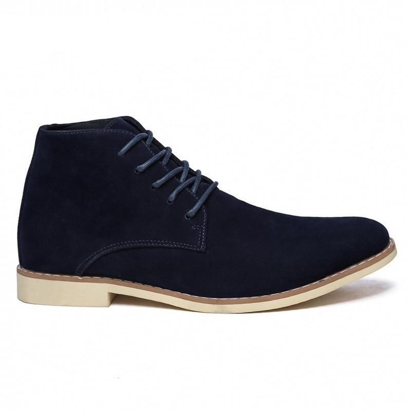 Men's Mid-Calf Suede Boots - Real Deal Buddy