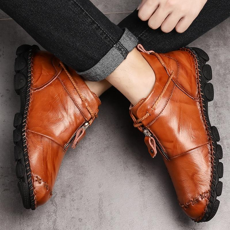 Genuine Men's Martin Ankle Leather Shoes