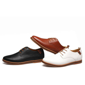 Boss Tie-up Casual Leather Shoes - Real Deal Buddy