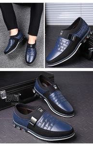 Genuine Leather Slip on Oxfords