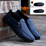 Men Comfortable Winter Moccasins Soft Shoes