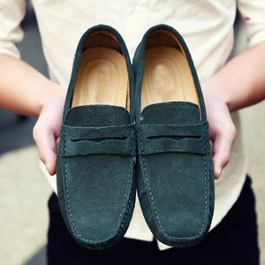 Men's Leather Moccasin Suede Shoes - Real Deal Buddy