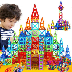 110pcs - 184pcs Magnetic Building Blocks