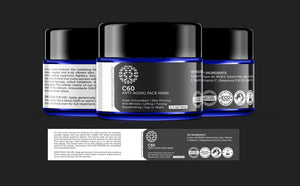 C60 Anti-Aging Face Mask 50ml Made With Organic Ingredients