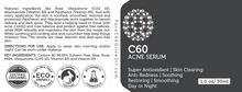 C60 Acne Serum 30ml Made With Organic Ingredients