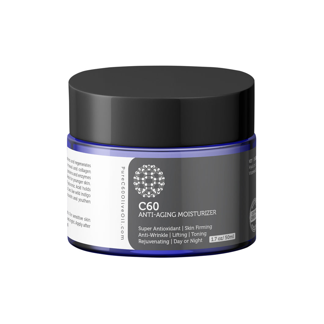C60 Anti-Aging Moisturizer 50ml Made With Organic Ingredients