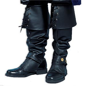 Lace-Up Boot Spats - Shiny