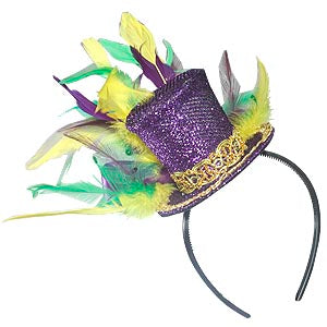 Mini Mardi Gras Hat Topper