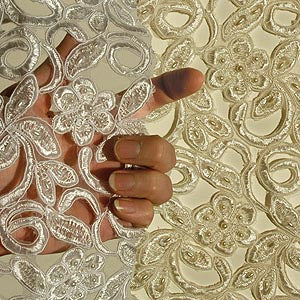 Cutout Flower Organza