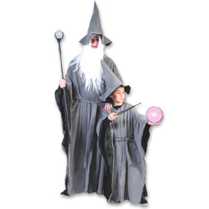 Grey Wizard Robe & Hat