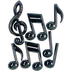 Plastic Music Notes