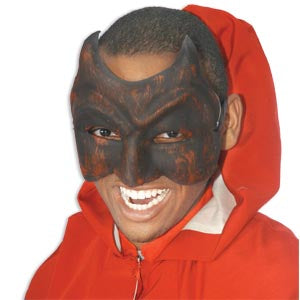 Devil Carnival Half Mask w/Ties