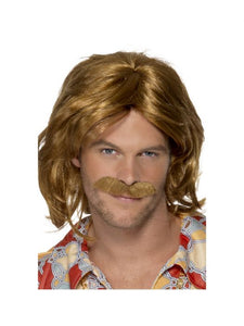 70's Super Trouper Wig and Moustache