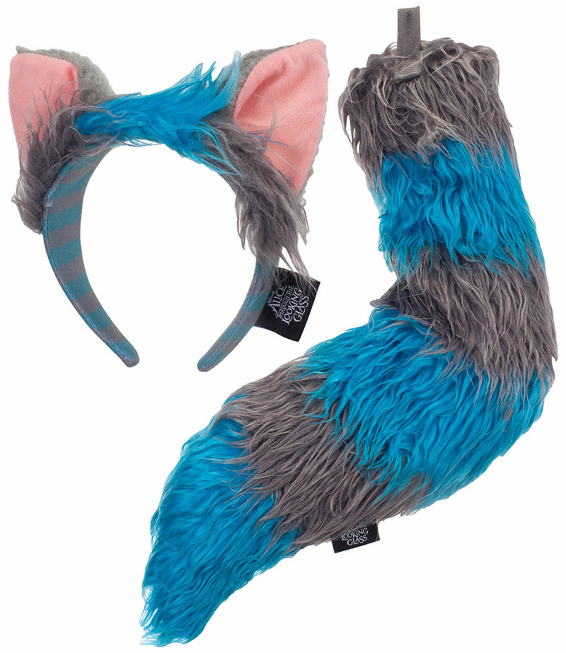 Disney Alice Through the Looking Glass Deluxe Cheshire Cat Ears Headband & Tail Kit