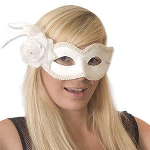 Lace Mask W/Flower