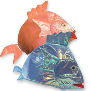 Iridescent Fish Hat  (Asst'd)