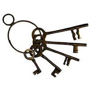 Old West Jailer Keys