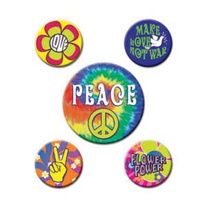 60's Party Buttons Set