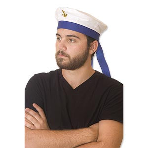 Sailor Hat w/Blue Ribbon