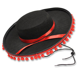 Spanish Hat w/Ball Trim