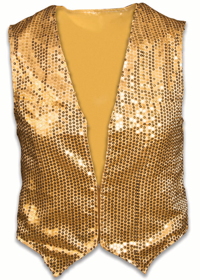 Gold or Silver Sequin Vest - Adult & Child Sizes