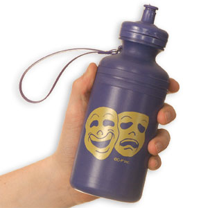 Comedy & Tragedy Water Bottle