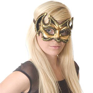 Gold and Black Carnival Mask