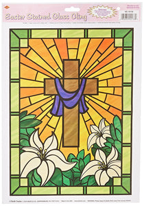 Easter: Stained glass window cling