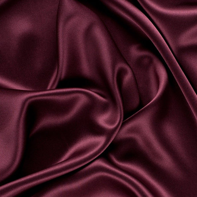 Burgundy Charmeuse Fabric