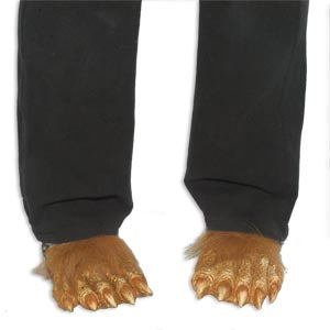 Hairy Wolf Feet Slippers